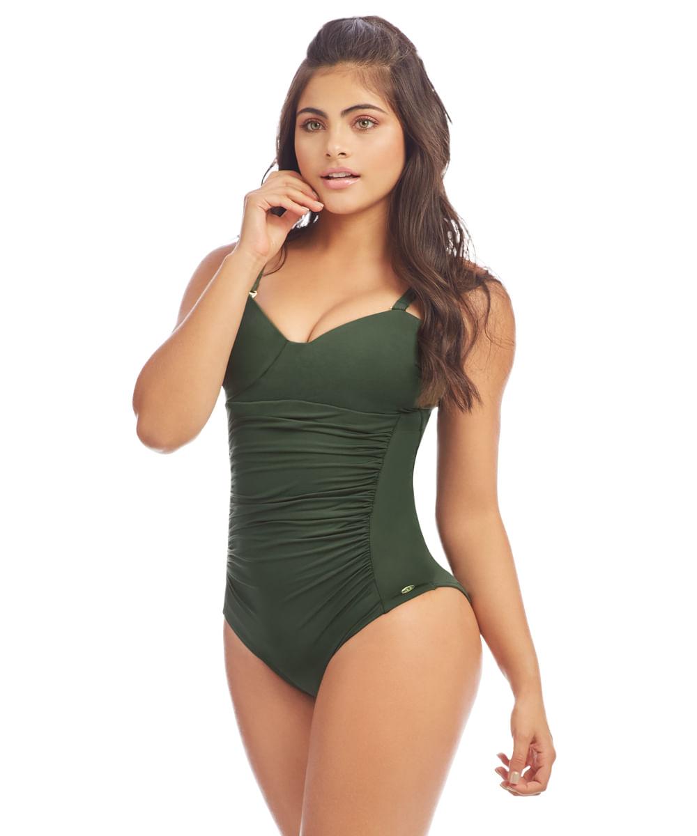 5bdc92efca Vestido de Baño Malva Verde militar-REF 16030 - Vestido de Baño Malva Verde  militar S